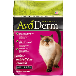 avoderm indoor hairball care formula