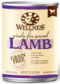 Wellness 95% Lamb Canned Dog Food