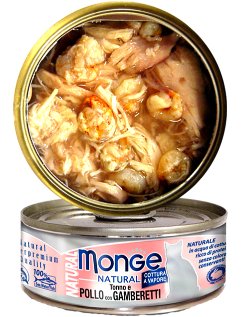 Monge Natural - Tuna & Chicken with Shrimps