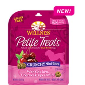 Wellness® Petite Treats Crunchy Mini-Bites With Chicken, Cherries & Spearmint  - 6oz