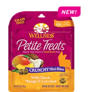 Wellness® Petite Treats Crunchy Mini-Bites With Duck, Mango & Coconut - 6oz
