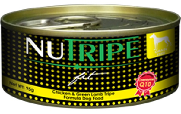 Nutripe Fit Dog Cans - Chicken & Green Lamb Tripe Formula - 6cans