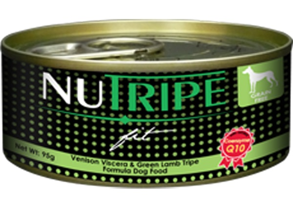 Nutripe Fit Dog Cans - Venison Viscera & Green Lamb Tripe Formula - 6cans