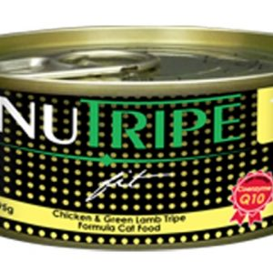 Nutripe Fit Cat Cans - Chicken & Green Lamb Tripe Formula - 6cans