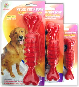 Percell Hard Nylon Chew Bone (Strawberry Flavour)