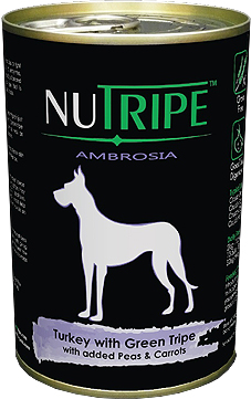 Nutripe Ambrosia Turkey with Green Tripe Canned Dog Food