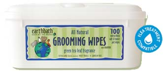 Earthbath Grooming Wipes- Green Tea Leaf Fragrance