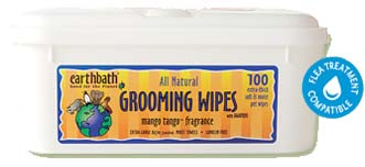 Earthbath Grooming Wipes- Mango Tango Fragrance