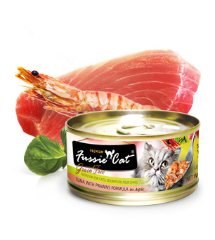 Fussie Cat Premium Tuna With Prawn