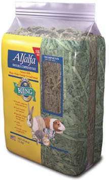 Alfalfa King – Alfafa Hay (Double-Compressed Bag) – 5lbs