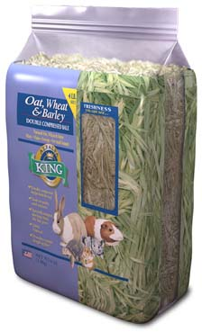 Alfalfa King – Oat, Wheat & Barley Hay (Double-Compressed Bag) – 4lbs