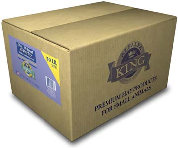 Alfalfa King – Oat, Wheat & Barley Hay (Double-Compressed Box) – 50lbs