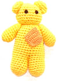 Ju-Be Bear Yellow Dog Toy
