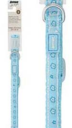 Avenue Adjustable Dog Collar – Spring Blossoms, Baby Blue