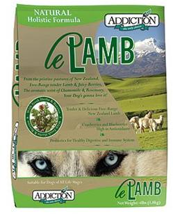 Addiction Dry Dog Food Le Lamb