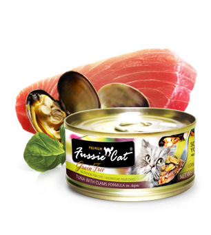 Fussie Cat Premium Tuna with Clams
