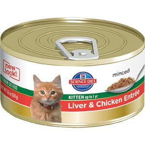 Science Diet Feline Canned Kitten Liver & Chicken Entrée - 5.5oz x 24