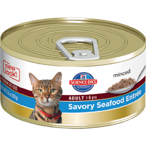 Science Diet Feline Canned Adult Savory Seafood Entrée - 5.5oz x 24