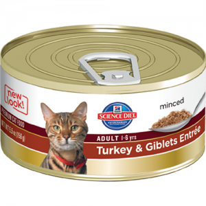 Science Diet Feline Canned Adult Gourmet Turkey Entrée - 5.5oz x 24