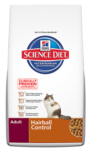 Science Diet Feline Adult Hairball Control - 7lbs