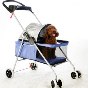 Bestpet 4-Wheels Pet Stroller Blue