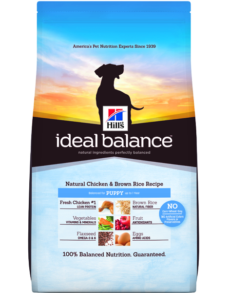 Hill's Ideal Balance Natural Chicken & Brown Rice Recipe Puppy  - 12.5lbs
