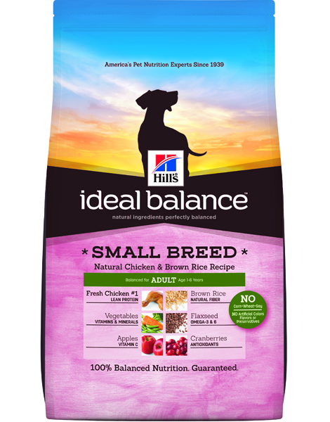 Hill's Ideal Balance Small Breed Natural Chicken & Brown Rice Recipe Adult - 15lbs