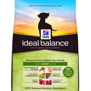 Hill's Ideal Balance Canine Natural Chicken & Brown Rice Recipe Adult - 15lbs