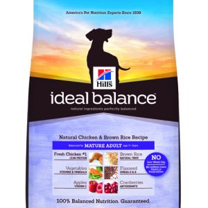Hill's Ideal Balance Canine Natural Chicken & Brown Rice Recipe Mature Adult - 4lbs