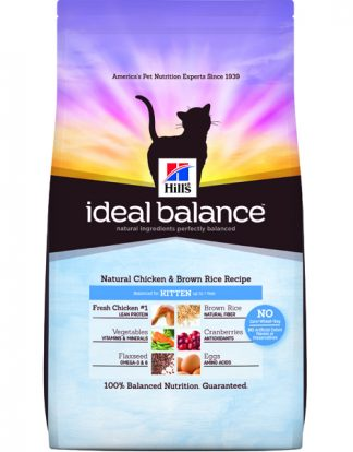 Hill's Ideal Balance Natural Chicken & Brown Rice Recipe Kitten - 3lbs