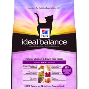 Hill's Ideal Balance Feline Natural Chicken & Brown Rice Recipe Adult - 3.5lbs