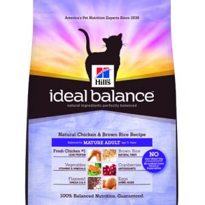 Hill's Ideal Balance Feline Natural Chicken & Brown Rice Recipe Mature Adult - 3.5lbs