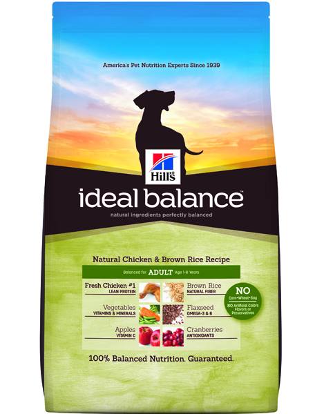 Hill's Ideal Balance Canine Natural Chicken & Brown Rice Recipe Adult