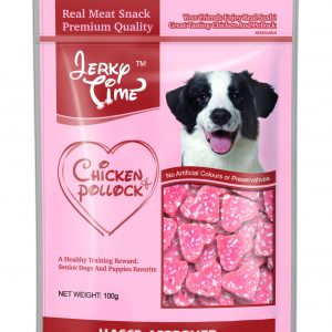 Jerky Time - Heart Chicken Jerky with Pollock 100g