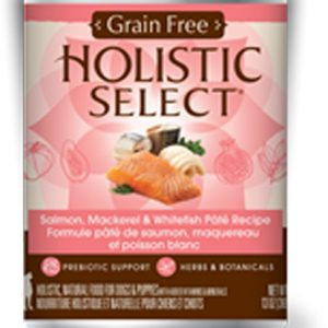 Holistic Select Dog Can - Whitefish, Salmon & Herring Pate Recipe (Grain Free)