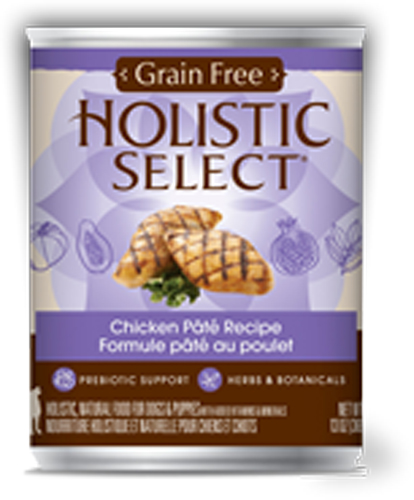 Holistic Select Dog Can - Chicken Pate Recipe (Grain Free)
