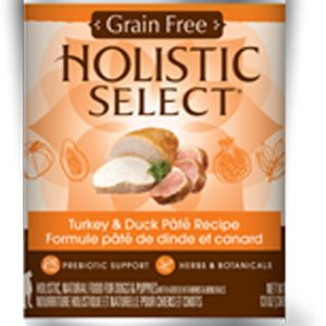 Holistic Select Dog Can - Turkey & Duck Pate Recipe (Grain Free)