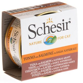 Schesir - Tuna with Salmon in Natural Gravy 70g