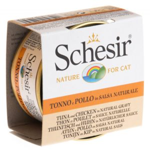 Schesir - Tuna & Chicken in Natural Gravy 70g