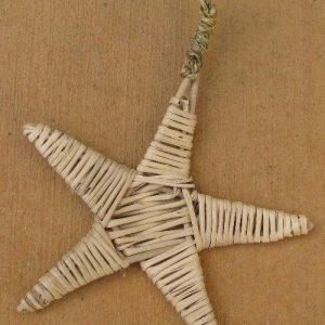 Busy Bunny - Vine Star Ornament