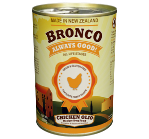 Bronco Chicken Olio Recipe Dog Canned Food (390g)