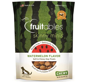 Fruitables Skinny Minis Dog Treats - Watermelon