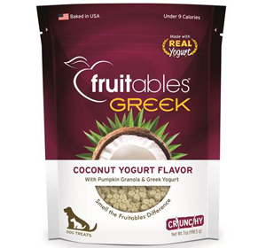 Fruitables Greek Dog Treats Coconut Yogurt