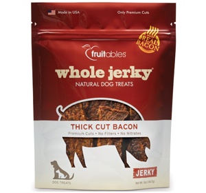 Fruitables Whole Jerky Dog Treats Thick Cut Bacon