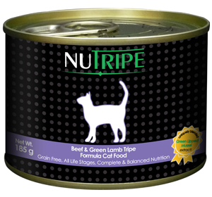 Nutripe Beef with Green Tripe Canned Cat Food