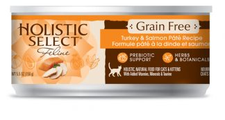 Holistic Select Grain Free Cat Canned - Turkey & Salmon Pate