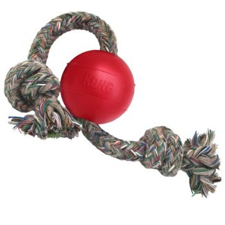 KONG - Classic Rubber Toy - Classic Kong Ball with Rope