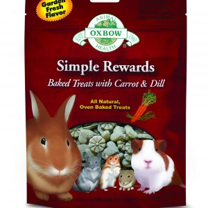 Oxbow Simple Rewards Baked Treats with Carrots with Dill