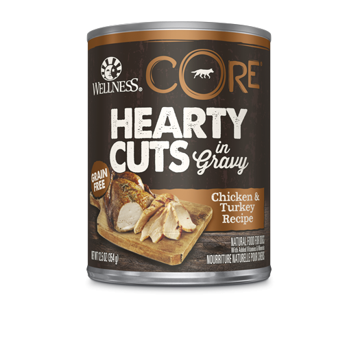 Wellness Core Hearty Cuts - Dogs - Chicken and Turkey