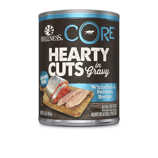 Wellness Core Hearty Cuts - Dogs - Whitefish and Salmon